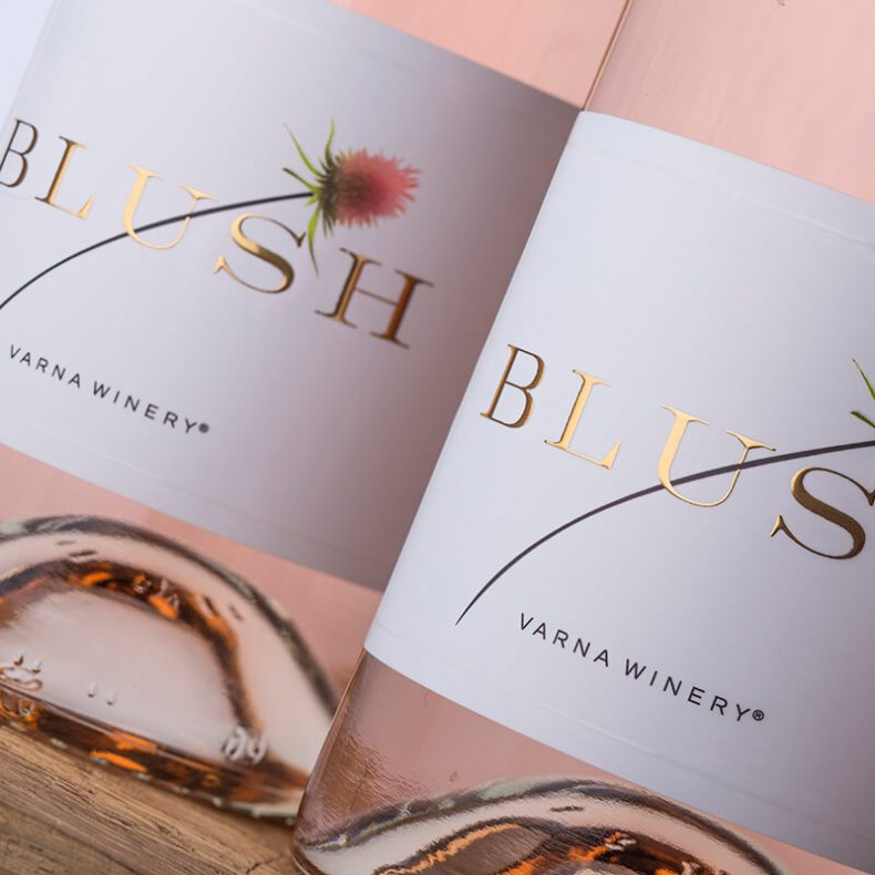 Blush Wine Label - Varna Winery
