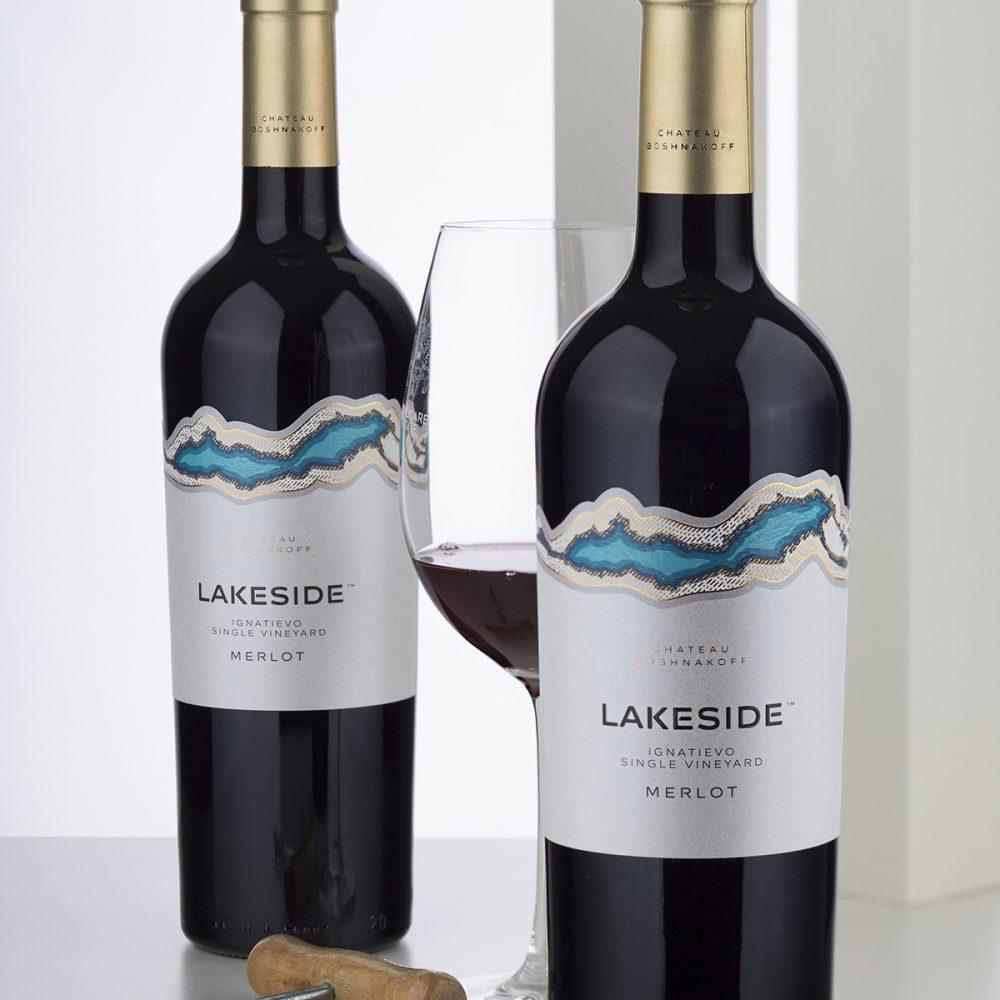 Lakeside brand labels - Chateau Boshnakoff