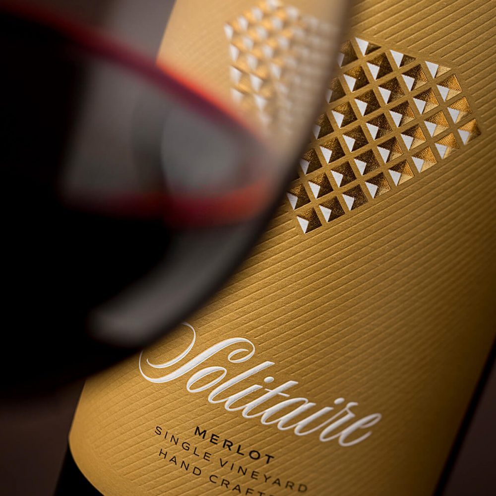Solitaire Wine Label