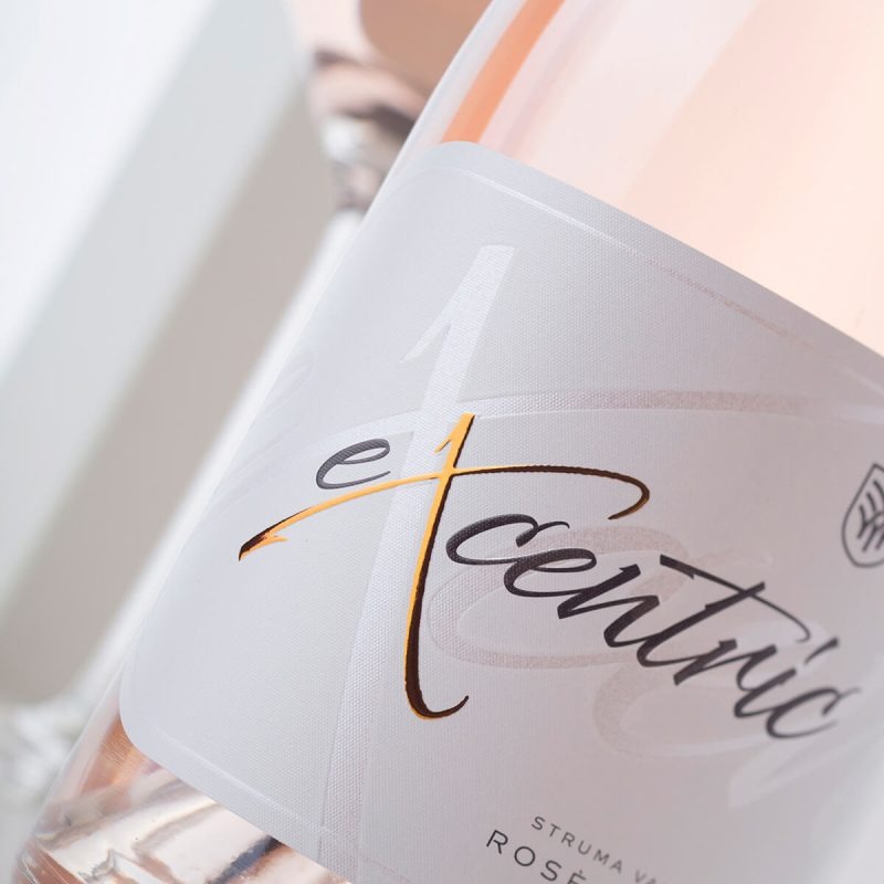 excentric wine label - embossing and hot foil